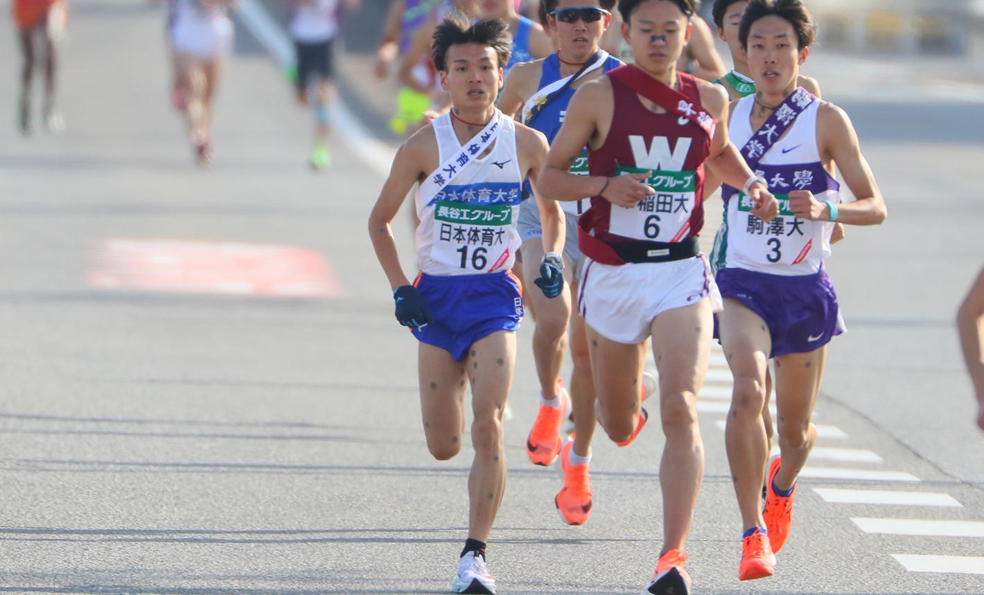 全日本大学駅伝では2区で11人抜きの区間3位