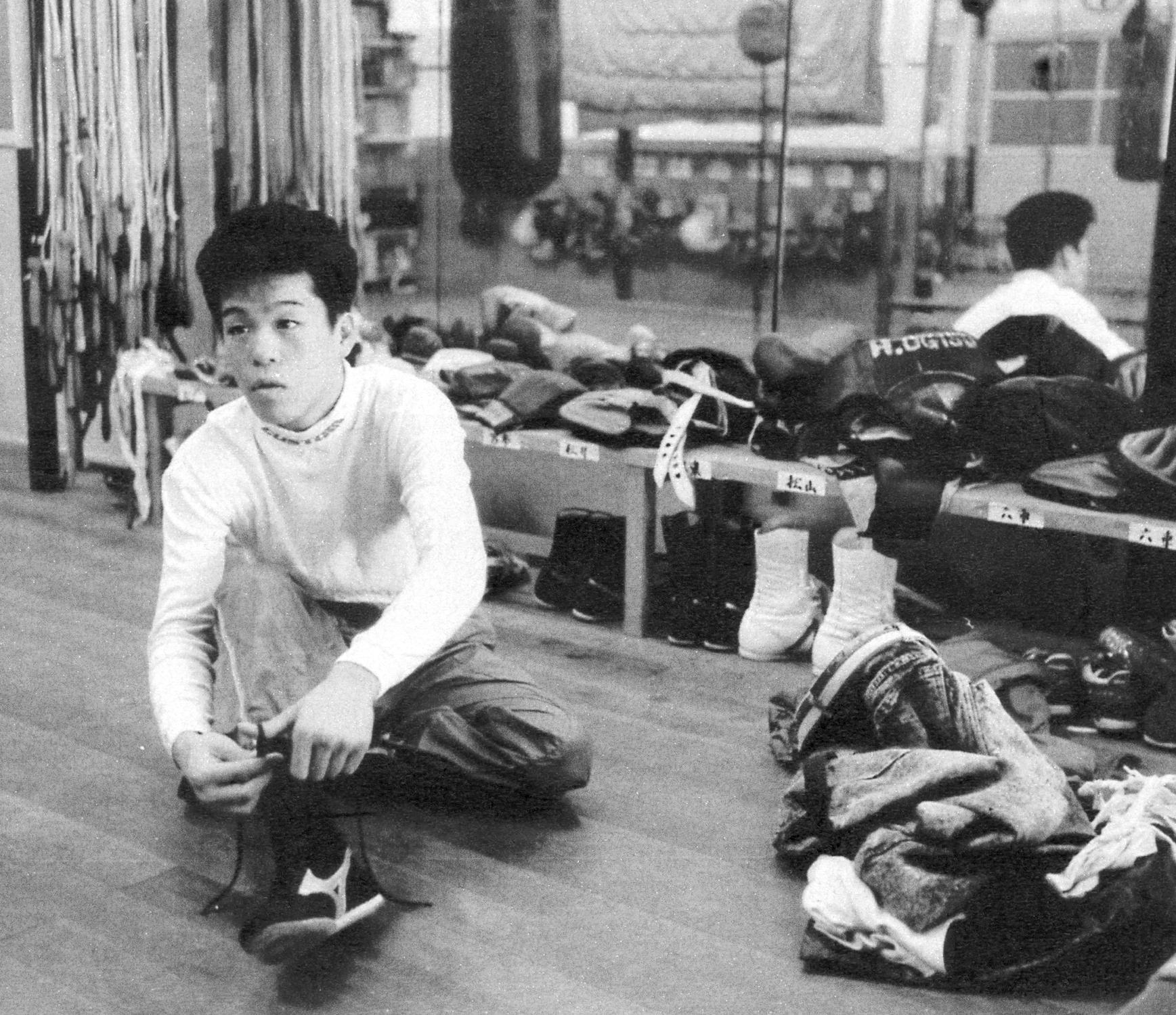 1987年10月9日=大阪帝拳ジム 初取材初対面第一声「俺なんか取材しても、しゃあないでしょ」いやいや取材できて良かったです!