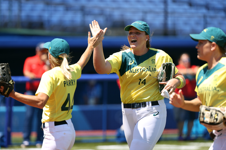 7回までアメリカ打線を無得点に抑える好投を見せたオーストラリアのターニ・ステプト(Getty Images)
