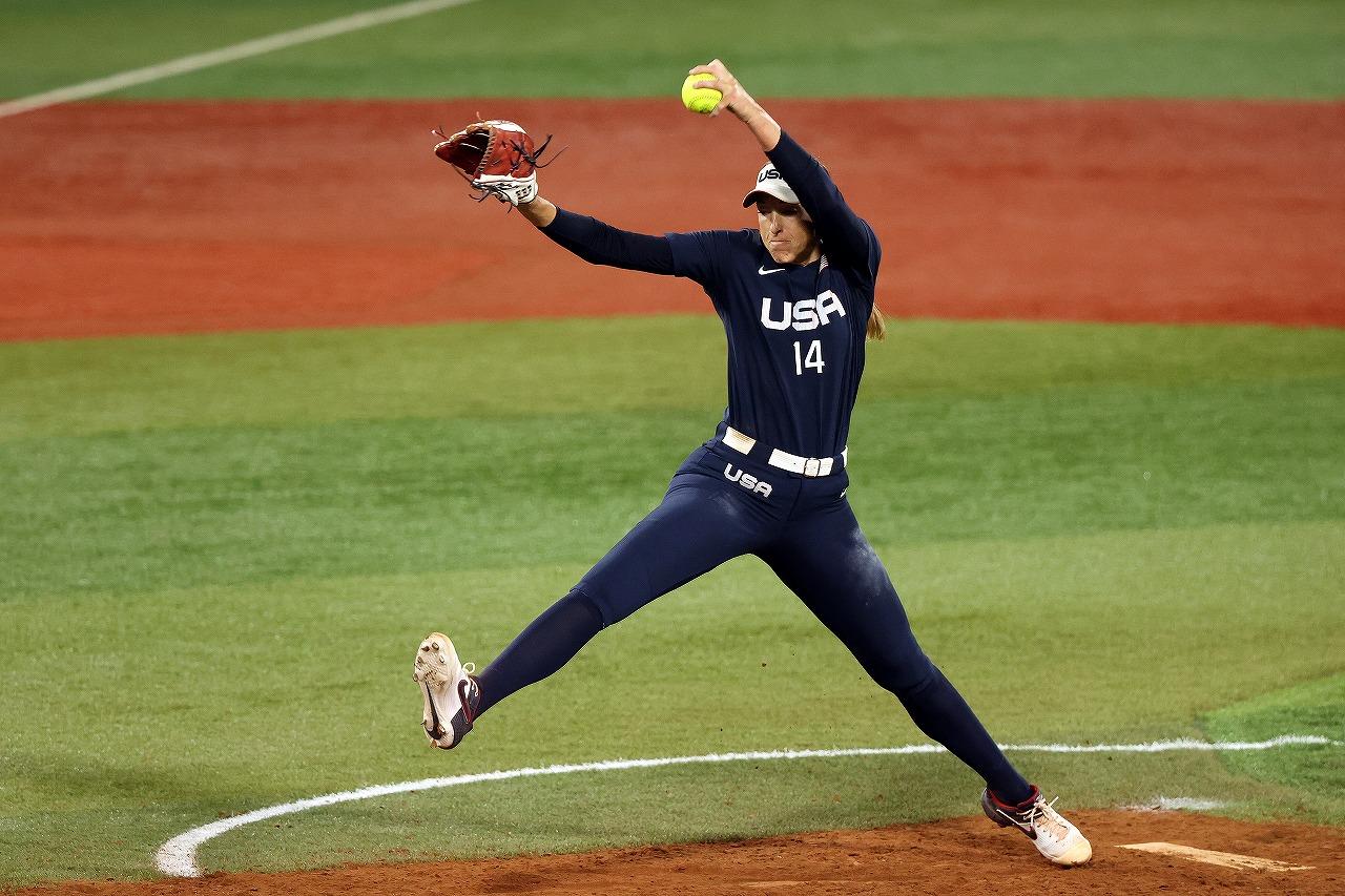 5回二死一塁からマウンドに上がったM.アボット。五輪での金メダルは手にできなかった(Getty Images)
